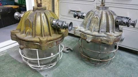 Lampe antidéflagrante en fonte style industriel Vintage
