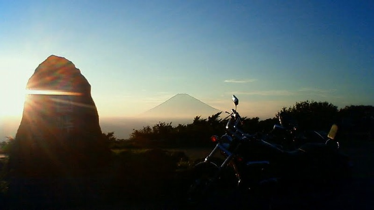 Its my first touring with second motorcycle. And the mountain is Mt.Fuji.