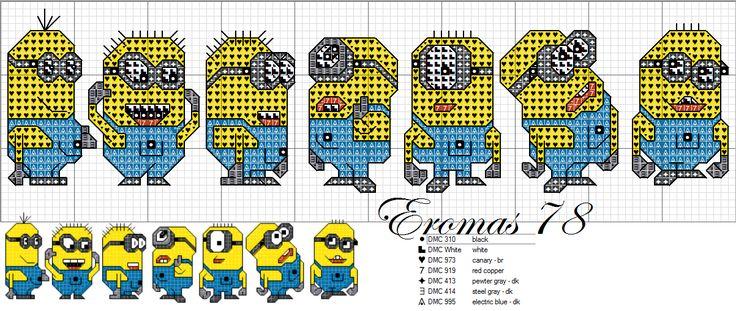 Minion Cross Stitch Pattern   Ricerche correlate a Minions a punto croce