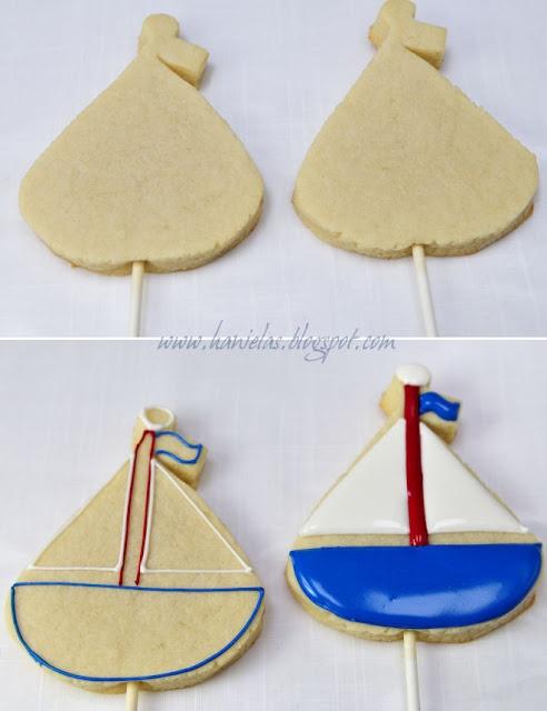 Cute Sailboat Cookies