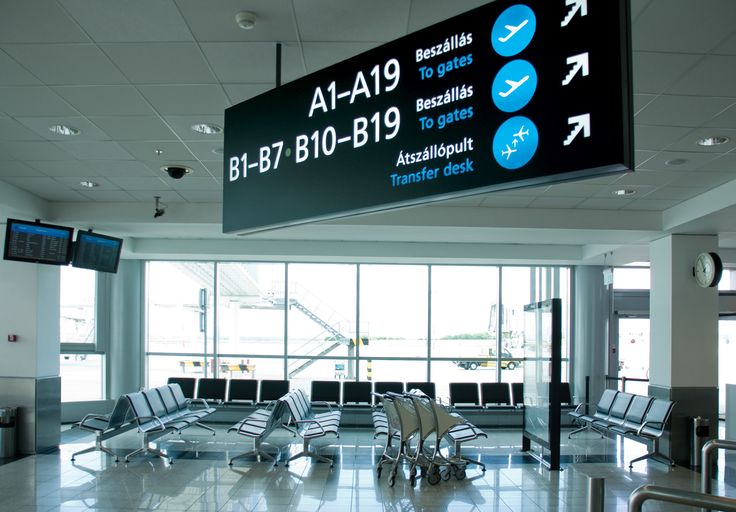 Wayfinding and signage system for Budapest Airport Terminal 2