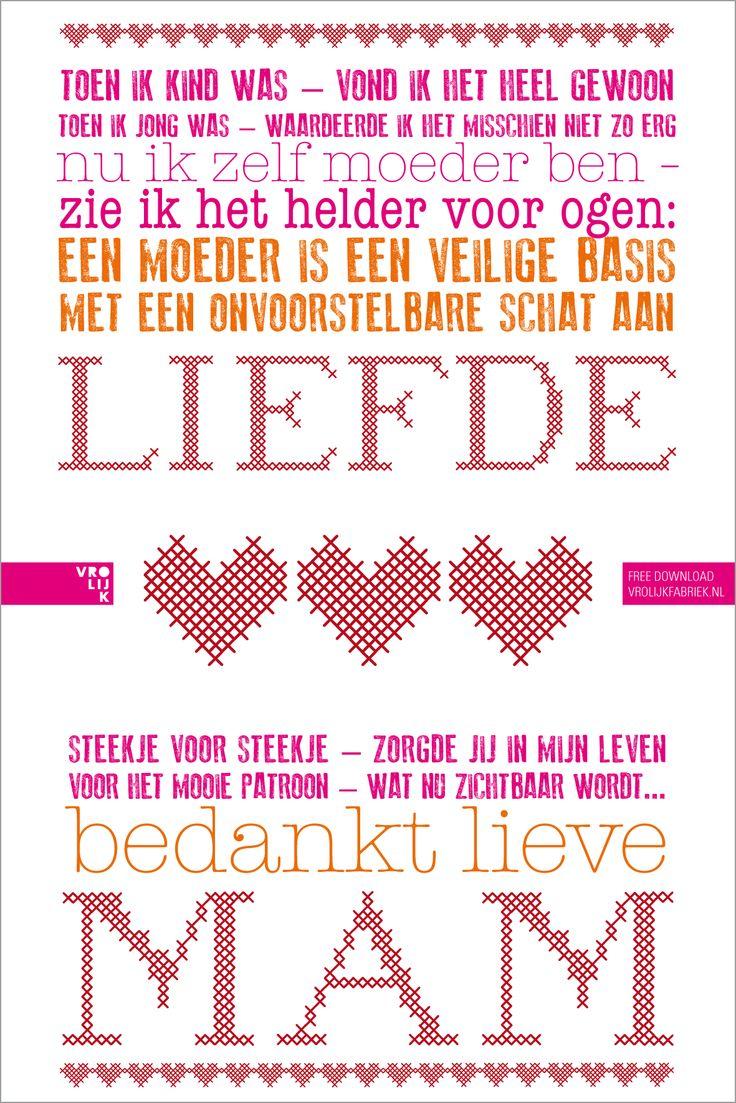 for Mother's Day. By Studio Vrolijk.  www.vrolijkfabriek.nl