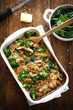 Creamy Chicken quinua y Brócoli Cazuela - 350 calorías de acogedora comida de…