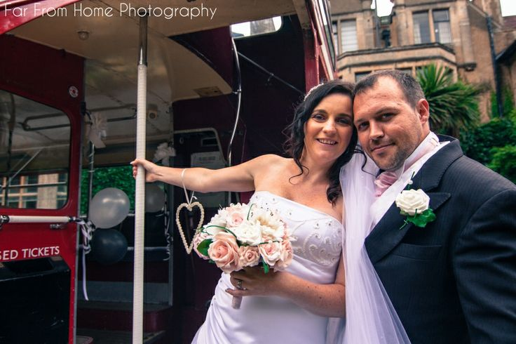 Fun weddings happen when great props are involved...we had a lot of fun with this double decker bus!