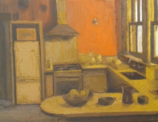 Evan Jones, oil on canvas, kitchen 2016