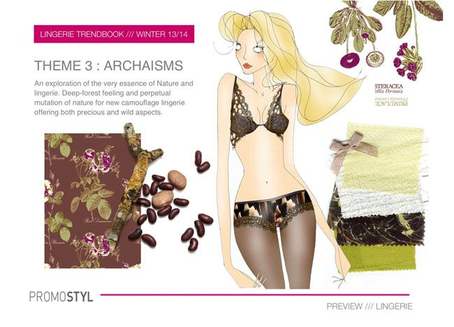 Promostyl Fall 2013 Lingerie Trend Preview: Archaisms
