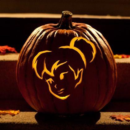 Tinkerbell Pumpkin-Carving Templates