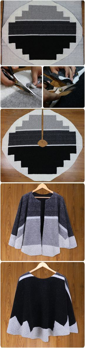 One Piece of WOOL and Cashmere Blend Fabic turned into a SHAWL with just one cut. whatttt i have to do that!! I Love This --- so much, It's just what you want.features simple color and No sewing! + Free Shipping & Easy Return, Find more fashion clothing like this at vogueclips.com
