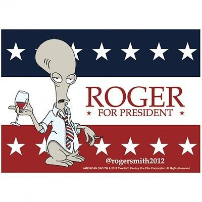 New #american dad #roger for president #magnet!,  View more on the LINK: 	http://www.zeppy.io/product/gb/2/122016231581/