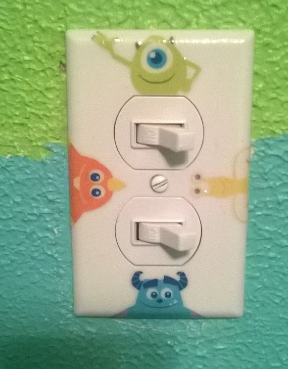 Monsters inc outlet lightswitch cover by craftswithdust on Etsy