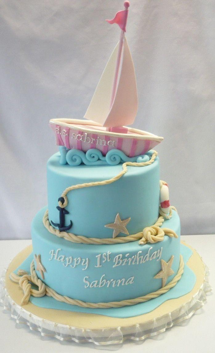 Pink Sailboat Cake