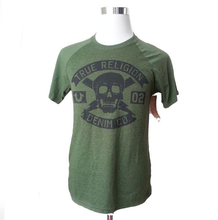 True Religion Men Size S Green #cotton Graphic TEE T-shirt Mexico Strike Force SS Trueregligion visit our ebay store at  http://stores.ebay.com/esquirestore