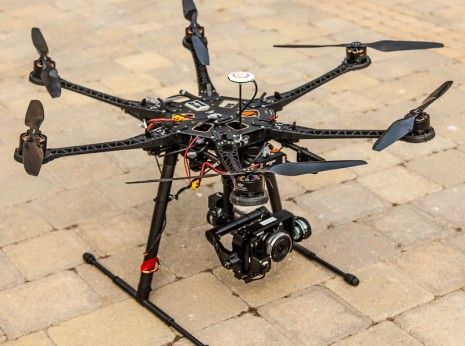 Our new 800 Multirotor Platform with subpixel camera stabilization