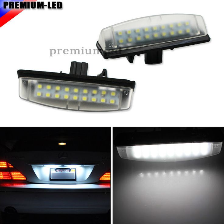 OEM Replacement LED License Plate Light Lamps For Lexus IS300 GS300 GS400  GS430 ES300 ES330 RX330 RX350 Toyota Prius, etc