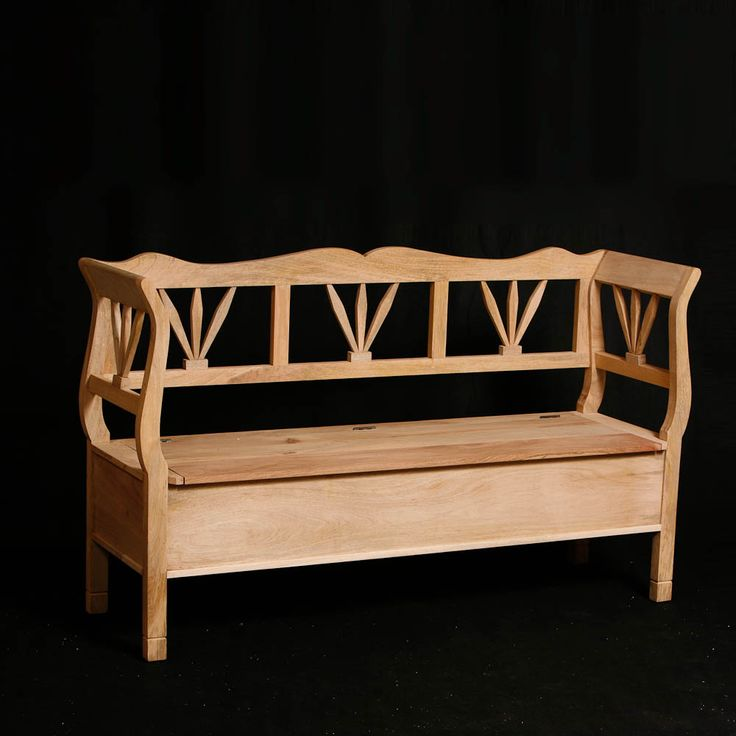 Country Wooden Sofa (3 Seater)