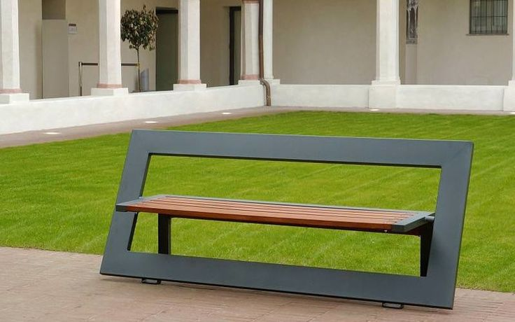 TITTA Frame bench is minimally designed wooden bench for outdoors