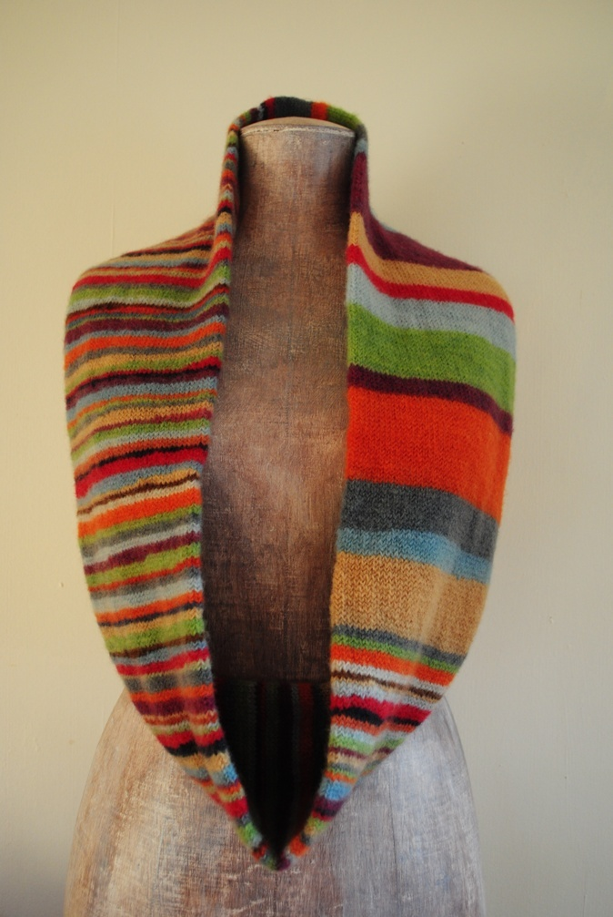 stripes and stripes infinity scarf... :)  Nice idea