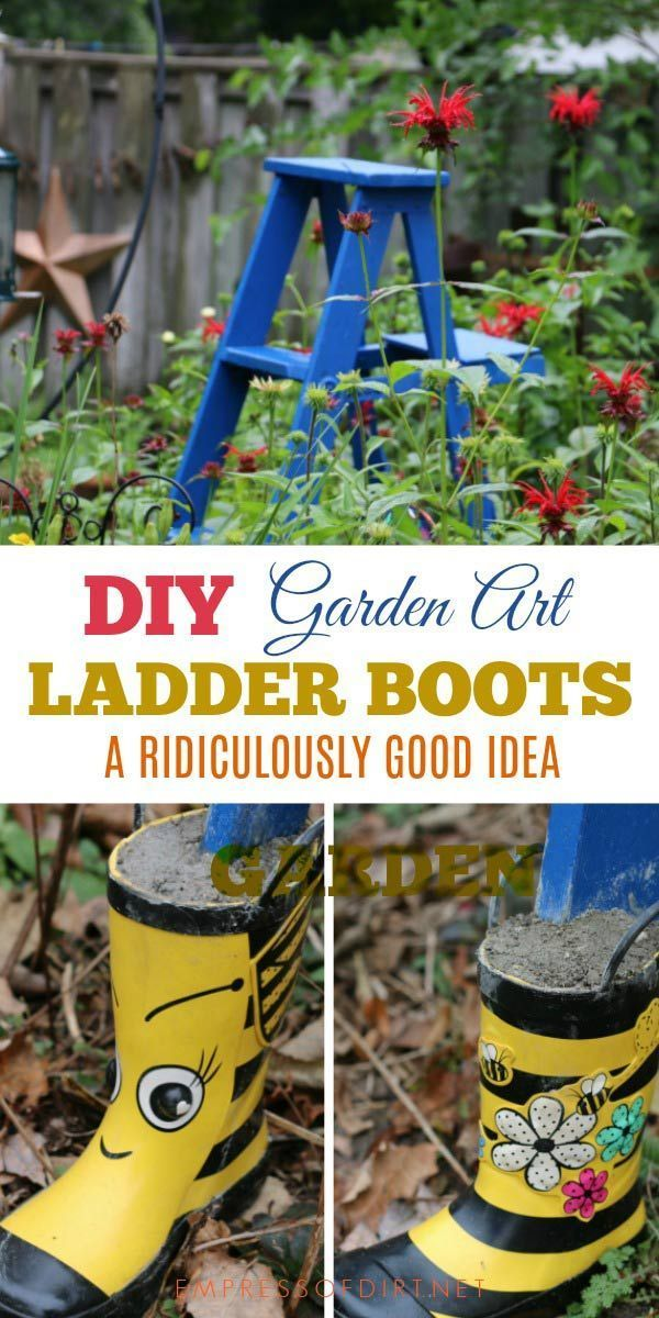 Want Your Garden Ladder To Last For Years Get It Some Boots
