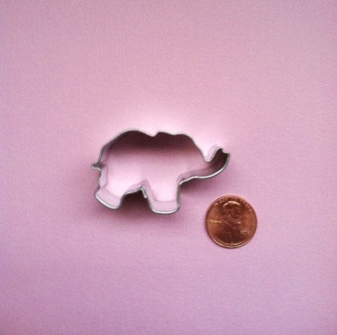 Elephant Miniature Cookie Cutter  Elephant by DIYSweetSupplyCo, $2.50