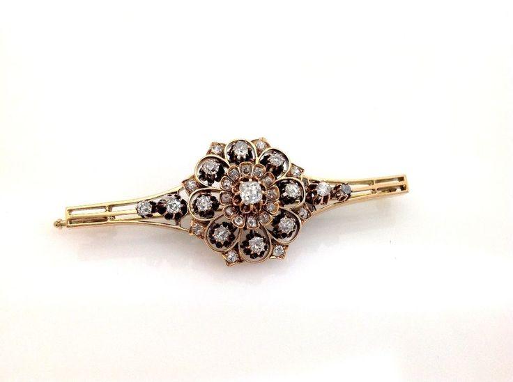 Handarbeit antike DIamant Brosche - antique diamond brooch - € 4.000,-