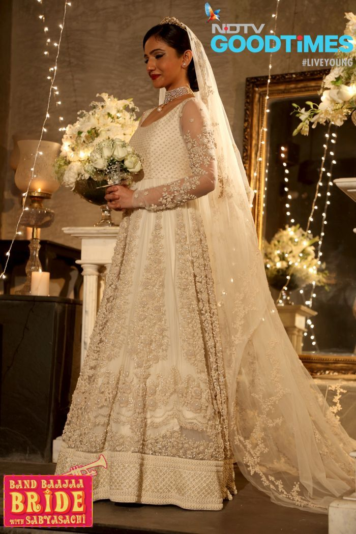 First ever Christian bride in Sabyasachi dress in Band Bajaa bride.