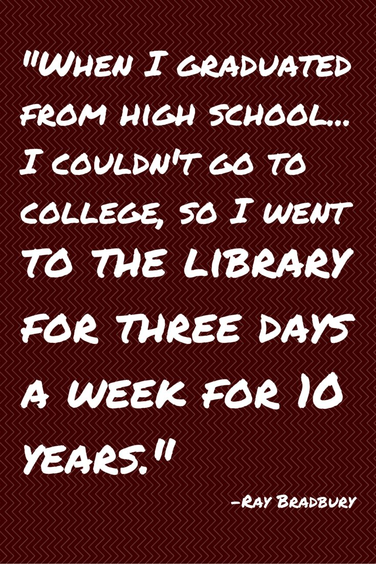 Quote about libraries from Ray Bradbury.