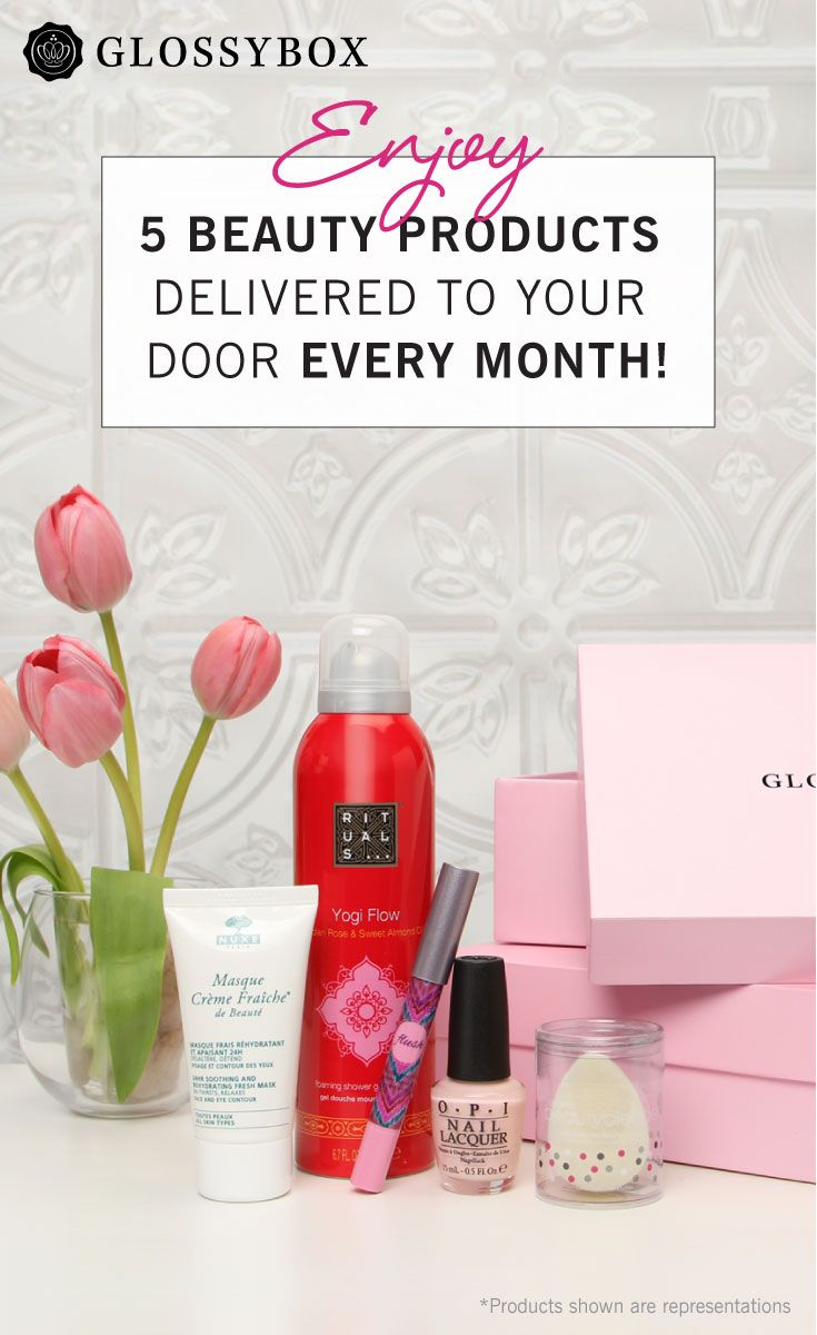 Try the best in beauty! Subscribe to GLOSSYBOX and get 5 personalized beauty products every month delivered directly to you. Join now and receive amazing products from brands like: Benefit SanFransisco, Estée Lauder, eyeko London, Fresh, GLAMGLOW, Julep, OPI, Sisley Paris and more. Shop now!