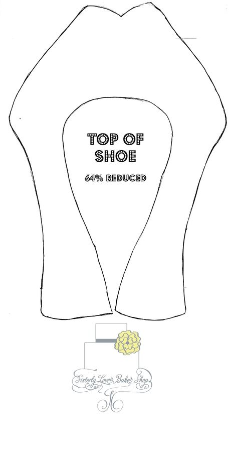 I used this template to make a Louboutin Platform shoe. Originally used a size 10 shoe to make the template and reduced the image size at 64%