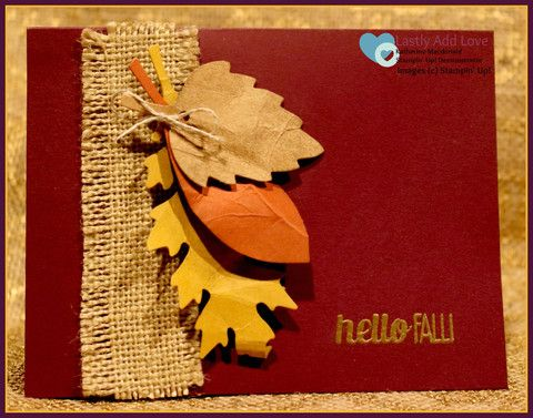 Fall Leaves - Set of 3 Cards & Envelopes