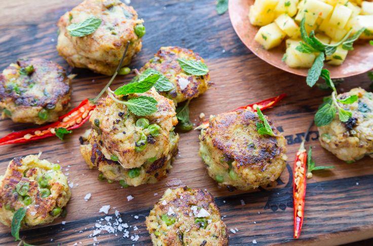 Fish Frikkadels with Pineapple Salsa