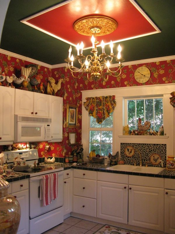 79 best primitive kitchen ideas images on pinterest home for French country green kitchen