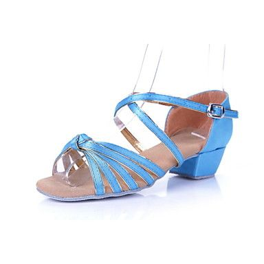 Chaussures de danse(Bleu Multicolore) -Non Personnalisables-Talon Bas-Satin Synthétique-Latine Flamenco Samba Salsa de 3689048 2017 à €14.69