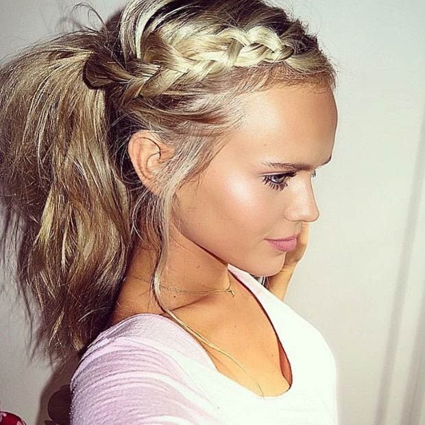 Incredible 1000 Ideas About Braided Ponytail On Pinterest Super Long Hair Short Hairstyles Gunalazisus
