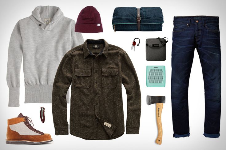 Uncrate Style GARB: BASE CAMP Bose SoundLink Color Bluetooth Speaker ($130). Bose SoundLink Color Speaker Case ($25). North Sea Clothing Shawl Collar Sweater ($218). Scotch & Soda Vernon Denim ($149). RRL Endurance Workshirt ($350). Tanner Goods x Danner Light Boots ($360). Norse Projects Top Beanie ($58). Husqvarna Hatchet ($40). Scout Seattle Field Bed ($712). Kershaw Firestarter ($15). Kershaw Scallion Knife ($75).