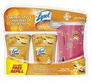 Lysol No-touch Hand Soap System, 1 Dispenser with 2 Vanilla Sugar & Spice Soap Refill