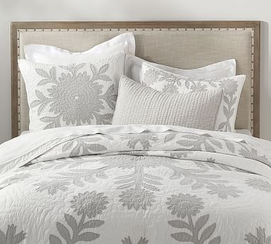 Lilo Cotton Quilt Full Queen Gray Bedding Quilts