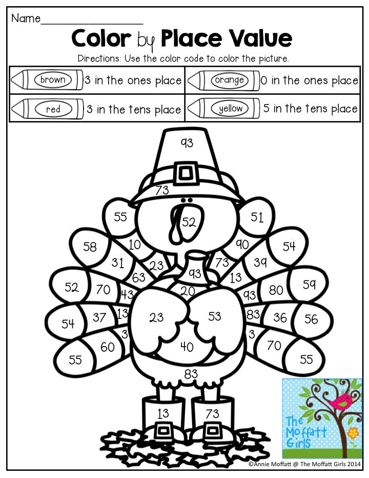 Color by Place Value- So many FUN activities for November