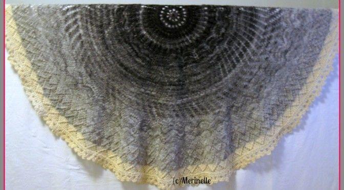 Merinelle #handspun Girasole #finnsheep #shawl