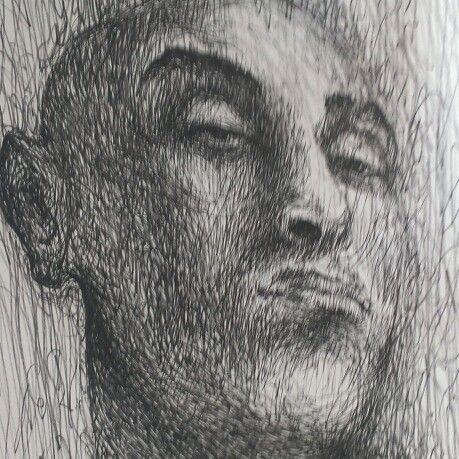 # #portrait #sketch #pen drawing # sketching #sketchbook work # psychological art # self portrait #