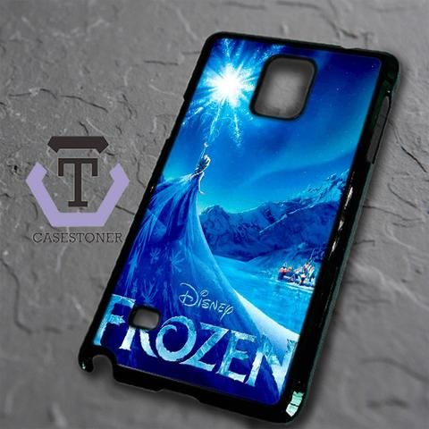 Snow World Blue Frozen Disney Samsung Galaxy Note Edge Black Case
