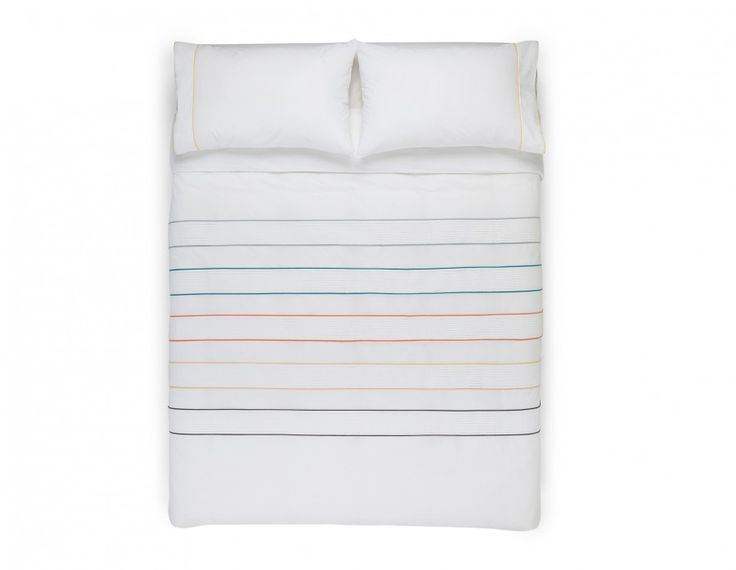 Cotton queen size bed set including 1 duvet cover and 2 pillowcases.