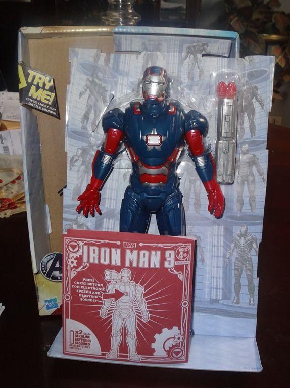 Iron Man Patriota 3 con misil e instrucciones de ensamblaje
