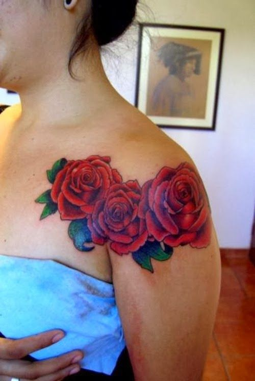 Girl Shoulder Tattoos