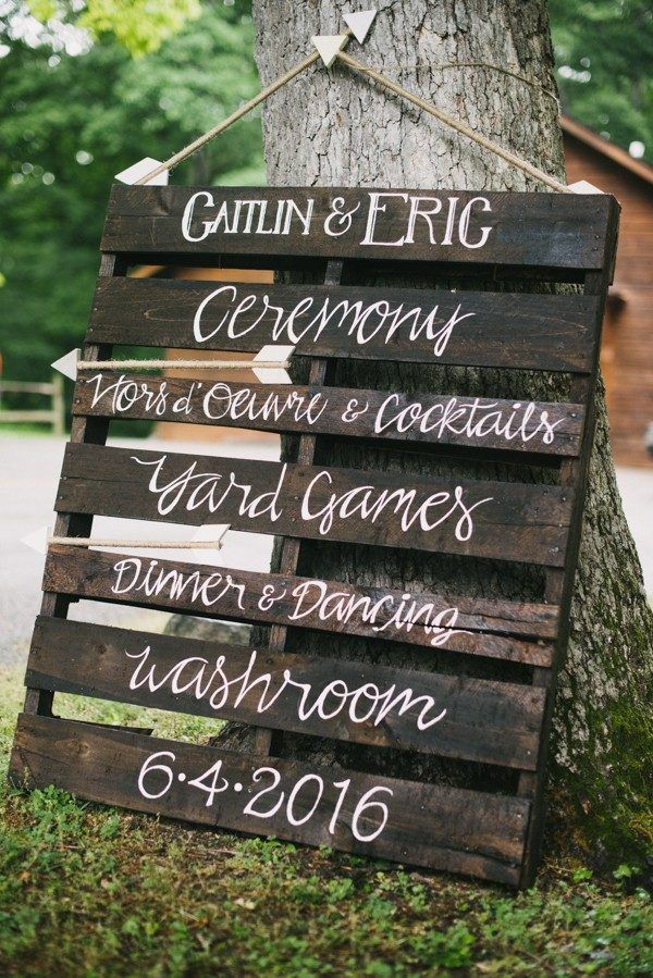 Romantic DIY wedding signage | The Colagrossis
