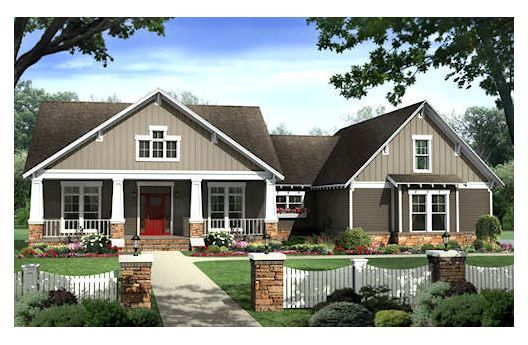 One story with unfinished upstairs bonus room over garage for One story house plans with bonus room above garage