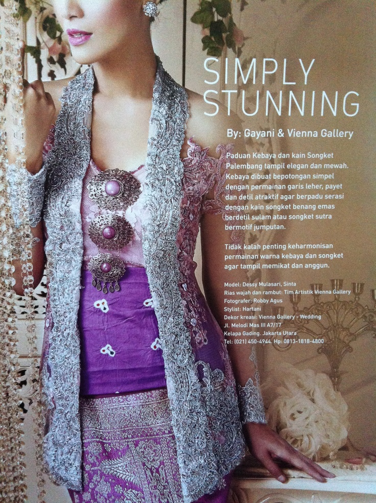 Silver and pink #colours #kebaya #style