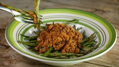 Bob Harper''s Meat Sauce Over Roasted Green Beans