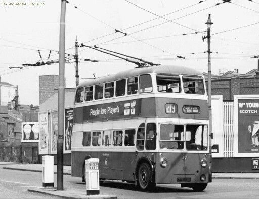 Ashton-Under-Lyne Corporation trolley bus 1962.