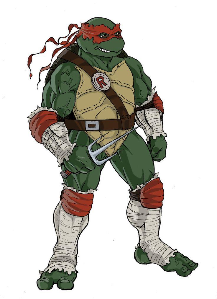 teenage mutant ninja turtles sketch of Raphael by KingJames06 on deviantART