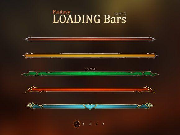 Fantasy Loading Bars 3 by EvilSystem on @creativemarket